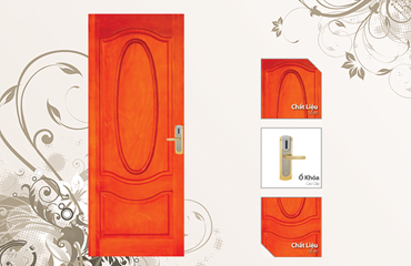 With elegant design and simplicity, convergent essence of Italian style and lifestyle, Gucci door with natural wood color and wood material