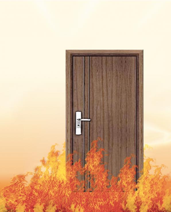 Sử dụng gỗ chống cháy làm cửa